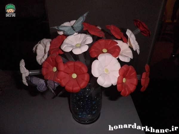 آموزش ساخت گلهای تزئینی و زیبا با وسایل ساده + تصاویر