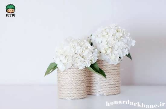 ساخت گلدان خانگی