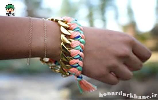 آموزش ساخت دستبند تزئینی دخترانه