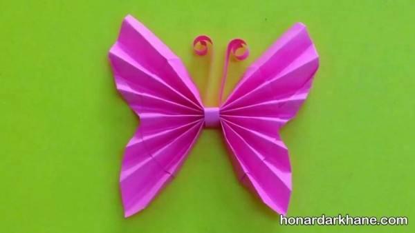 کاردستی پروانه با کاغذ