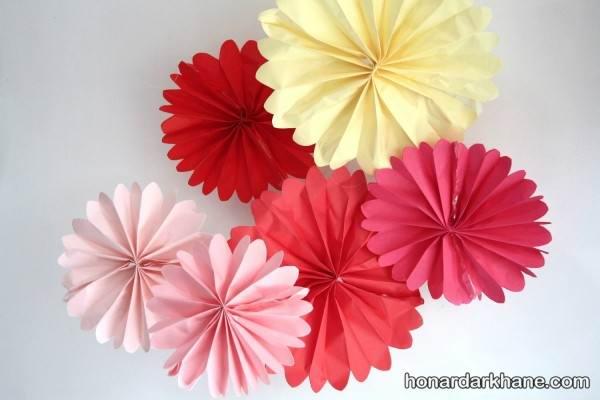 ساخت گل های کاغذی زیبا