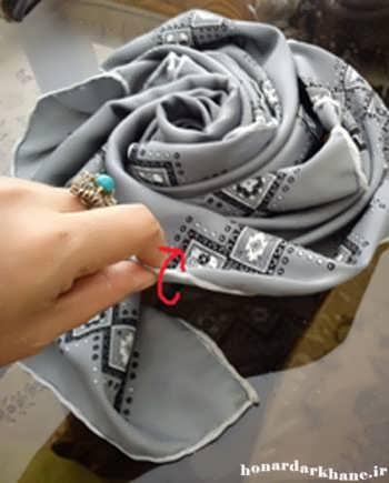 تزئین روسری