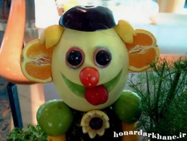 سرویس شیک نمدی عکس میوه آرایی و تزیین میوه برای کودکان