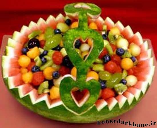 گل های تزیینی مانتو آموزش میوه آرایی و سبزی آرایی راحت و زیبا
