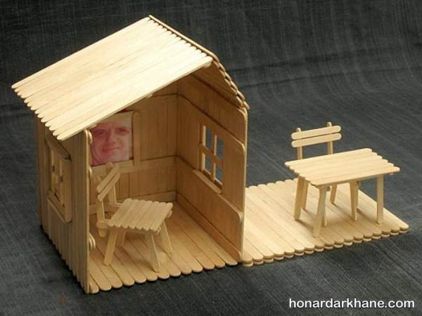 ساخت کاردستی کلبه برای بچه ها