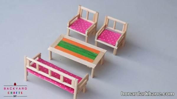 کاردستی های خلاقانه با چوب