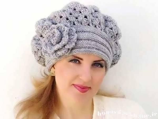 گل های تزیینی مانتو جدیدترین مدل های کلاه بافتنی دخترانه و زنانه 93