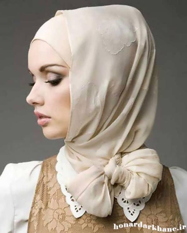 نحوه بستن روسری های مجری صدا سیما نحوه بستن شال و روسری به سبک های جدید.