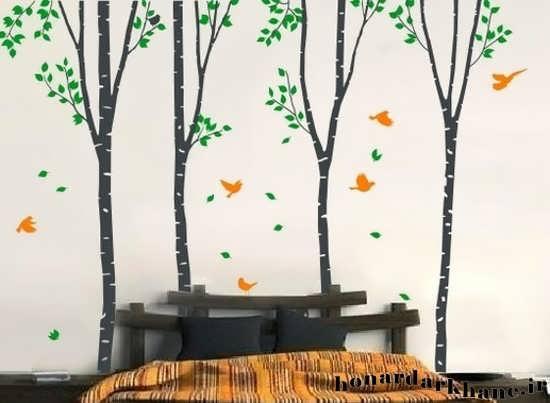 خروس بافتنی آموزش نقاشی روی دیوار به روشی ساده و متفاوت