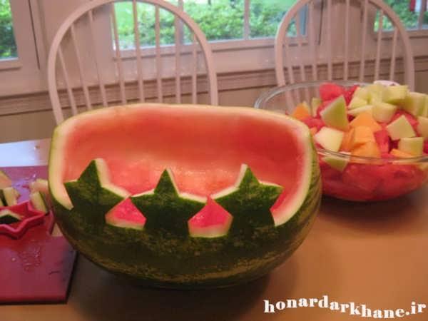 تزیین هندوانه شب یلدا
