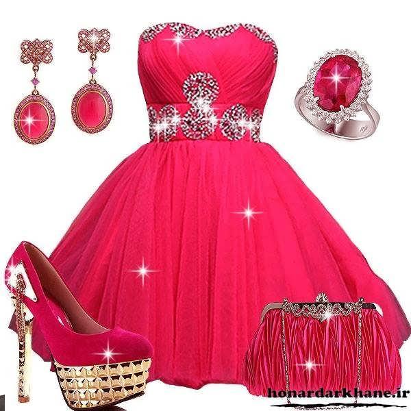 مدل لباس جشن بله برون و حنابندان قرمز