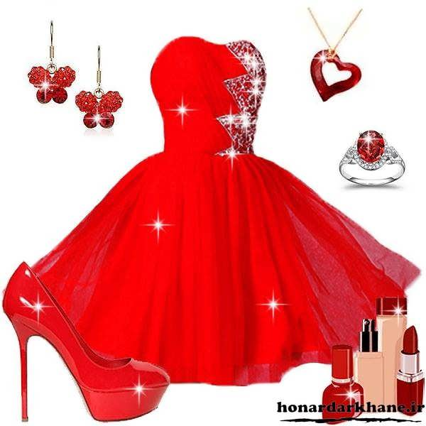 مدل لباس جشن بله برون و حنابندان با کفش و جواهرات