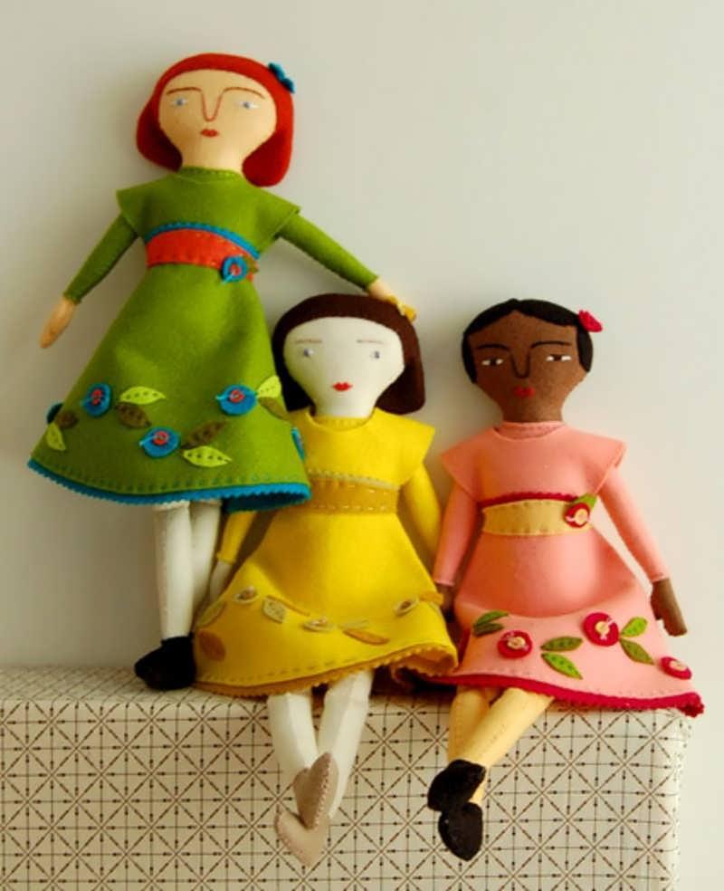 آموزش دوخت عروسک نمدی با الگو آموزش ساخت عروسک نمدی با الگو