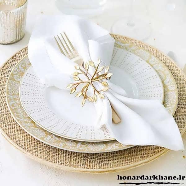 مدل های تزیین دستمال سفره برای سفره آرایی زیبا و میز غذا