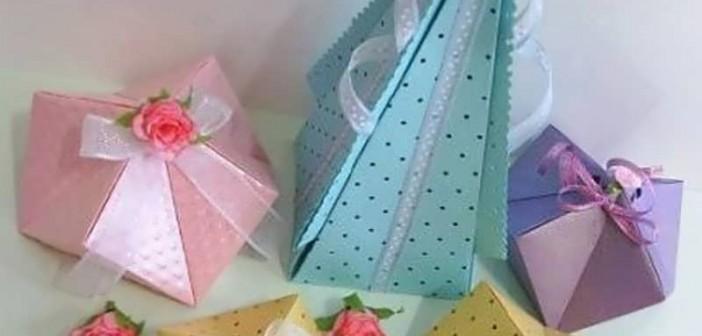 ساخت جعبه کادو با الگو