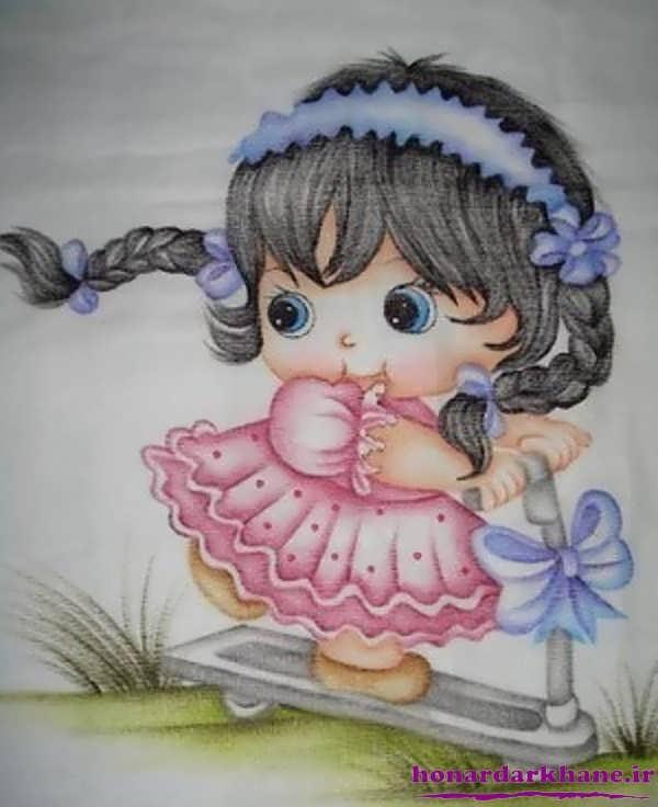 طرح فانتزی عروسک برای نقاشی Раскраска для взрослых цветы