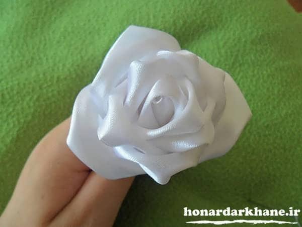 ساخت گل روبانی