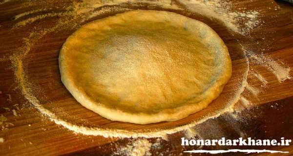 خمیر پیتزا خانگی