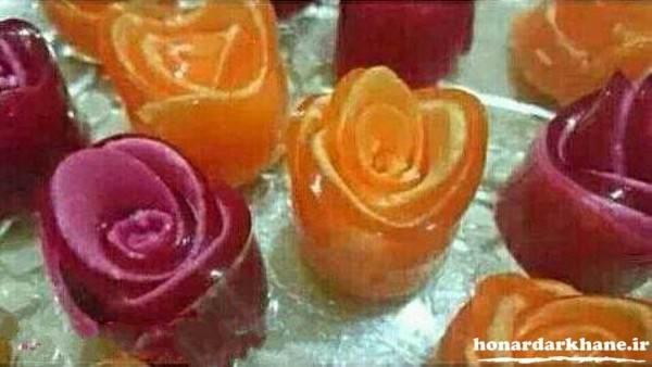 گل رز با ژله رولی