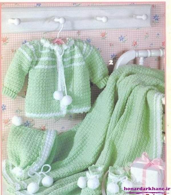 ست لباس بافتنی نوزاد