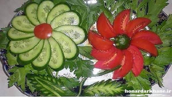 تزیین خیار و گوجه
