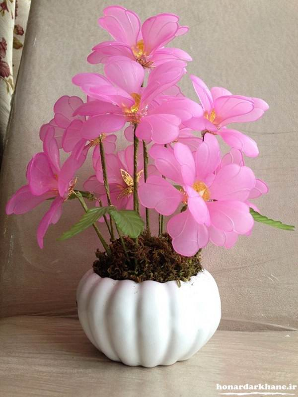تزیین گلدان گل