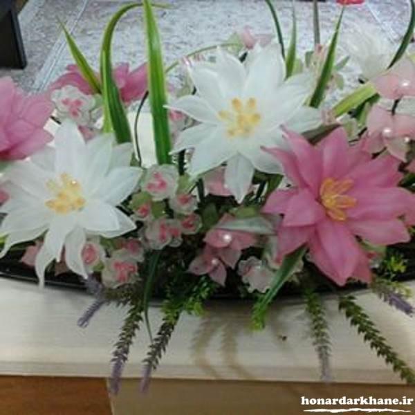 تزیین گلدان کریستالی