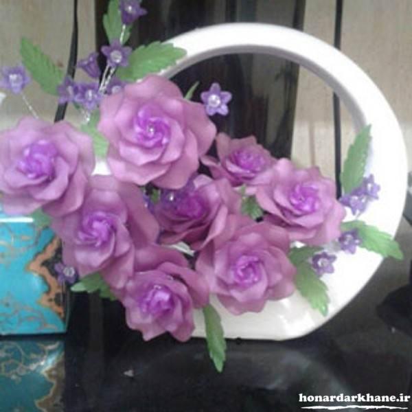 گلدان جدید گل کریستالی