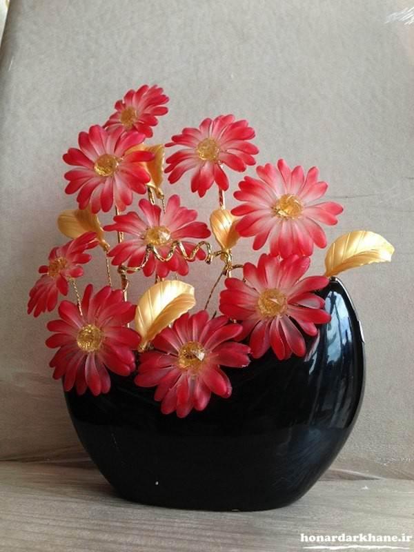 ساخت گل با کریستال