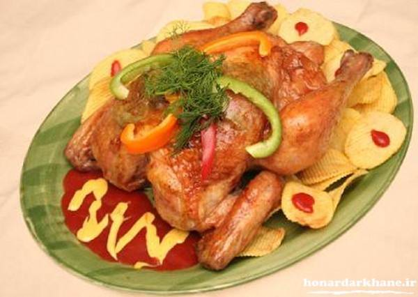تزیین غذا با مرغ