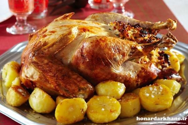 تزیین جدید مرغ سوخاری