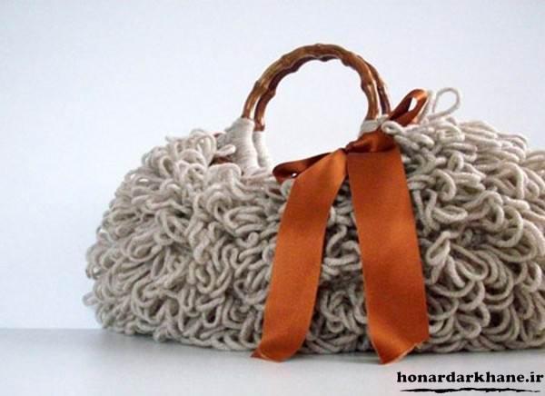 کیف بافتنی ریش ریش
