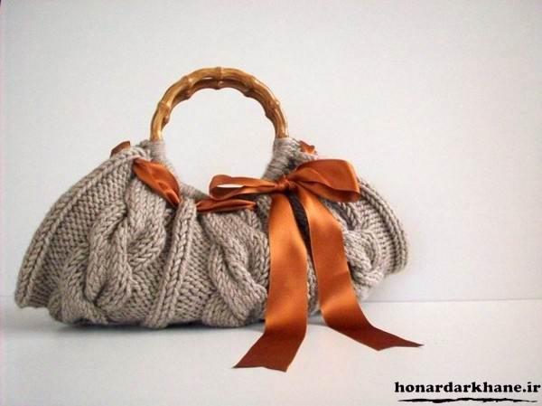 بافت کیف زنانه با کاموا