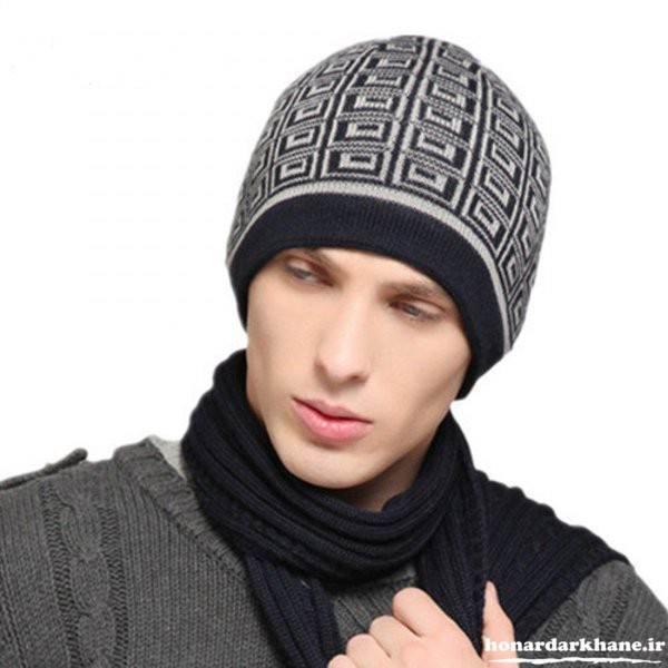 کلاه بافتنی شیک مردانه