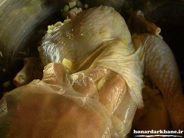 طرز تهیه مرغ