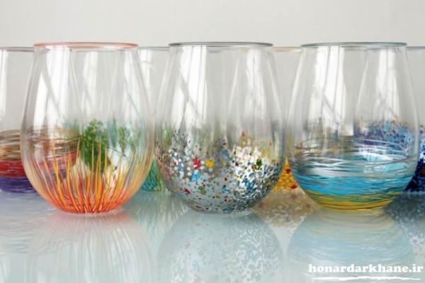 مدل نقاشی روی ظروف شیشه ای