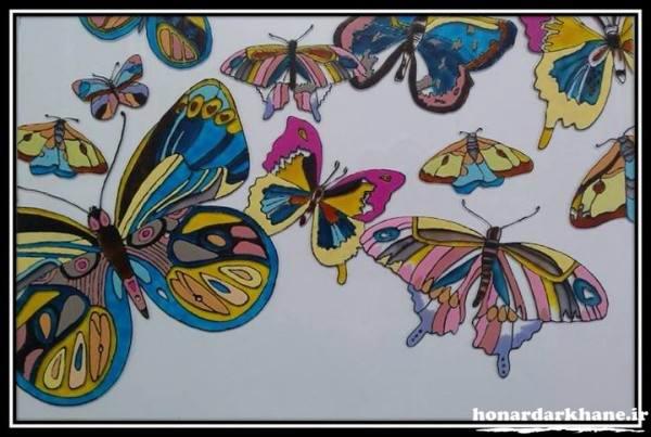 آموزش نقاشی روی شیشه ویترا