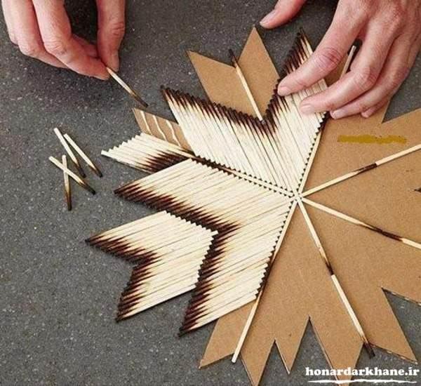 ساخت کاردستی با چوب کبریت