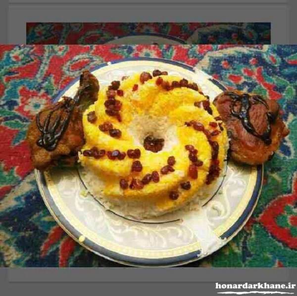 تزیین غذای ایرانی