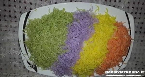 تزیین دیس برنج