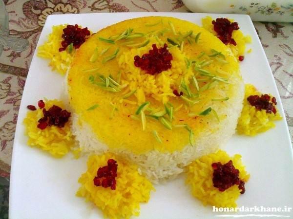 تزیین مجلسی برنج
