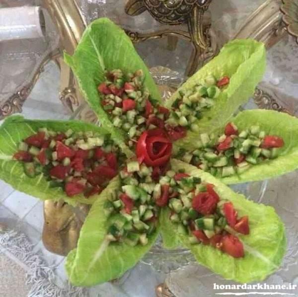 سالاد شیرازی تزیین شده