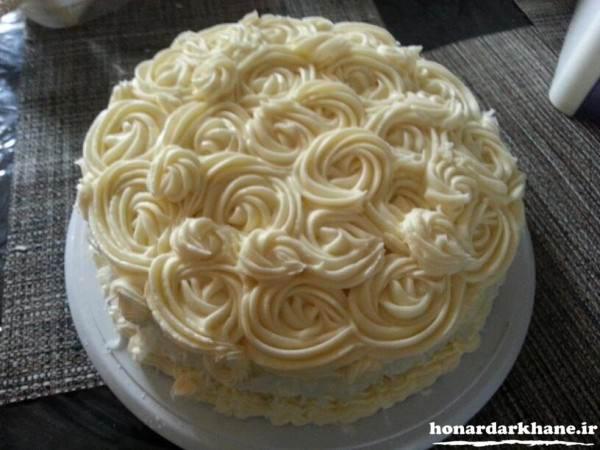 تزیین کیک ساده