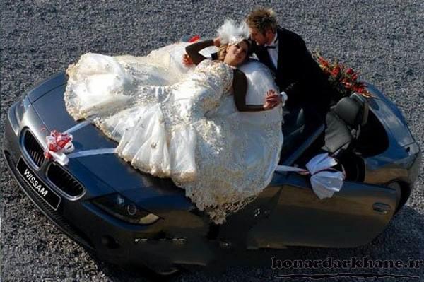 ژست های جذاب عروس و داماد