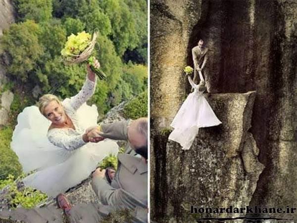ژست عروس و داماد متفاوت و زیبا