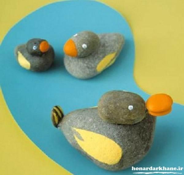 کاردستی کودکانه با سنگ