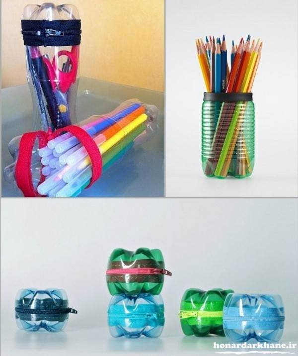 ساخت جامدادی با بطری پلاستیکی