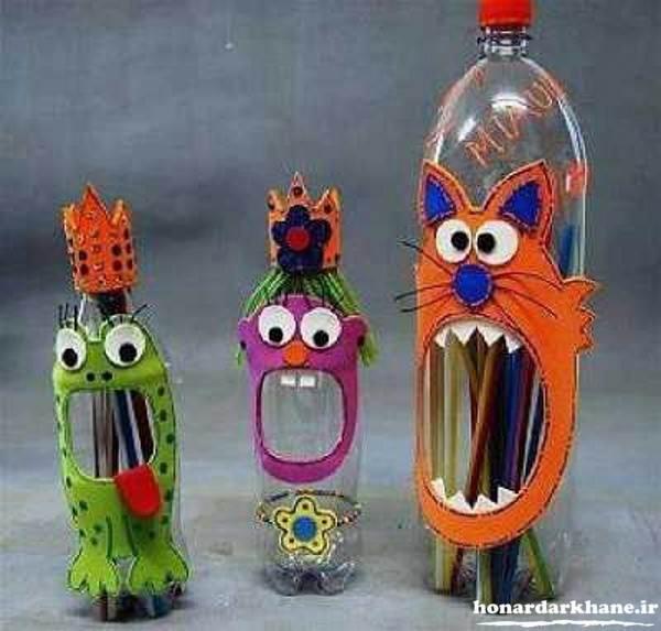 کاردستی کودکان با بطری