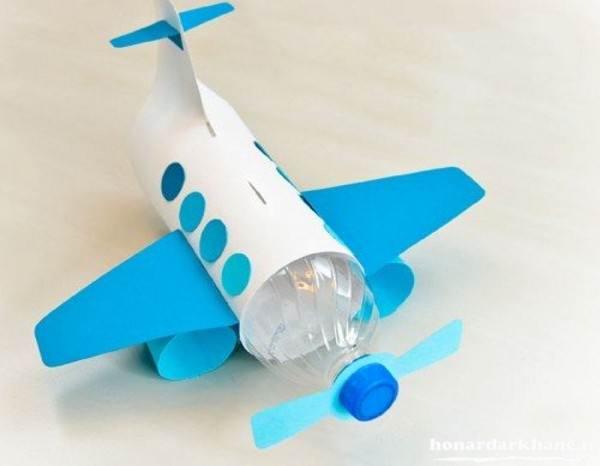 کاردستی هواپیما با بطری نوشابه