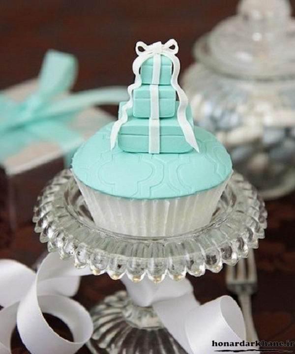 تزیین کاپ کیک با خمیر فوندانت